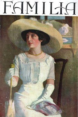 """Mayo 1912 - Chile (la revista """"Familia"""", publicación destinada a la mujer de la burguesía chilena.)"""