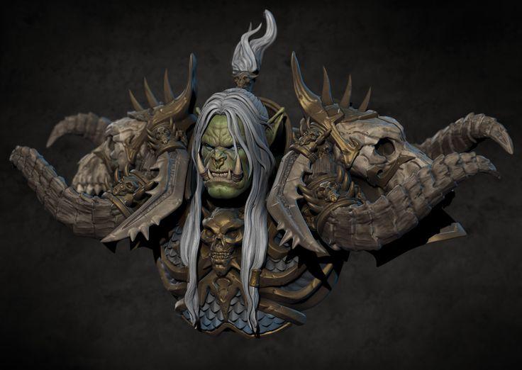 Warcraft Fan Art - Krog the Deathfist, Marthin Agusta on ArtStation at https://www.artstation.com/artwork/xB8rO