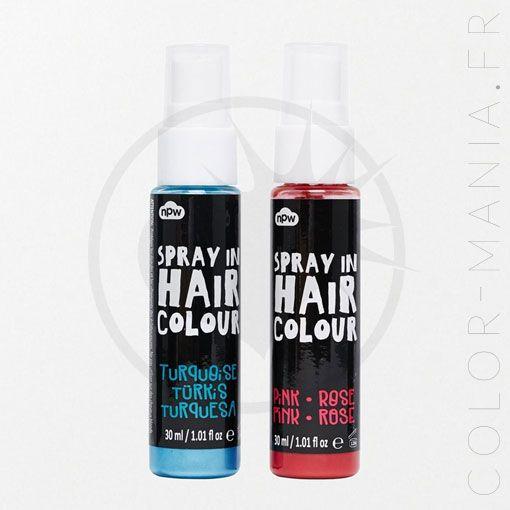 Pour des cheveux colorés sans engagement, il vous faut ces sprays cheveux en rose et turquoise. Facile à appliquer, facile à enlever !