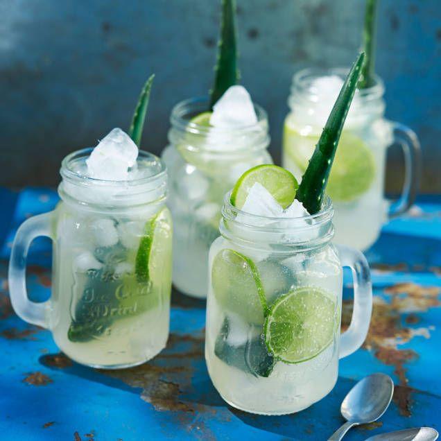 Läskande och mycket god drink med vit rom, kokoslikör, bourbon och lime. Passar både som välkomstdrink och efter maten. Garnera med en bit av ett aloe vera-blad om du vill.