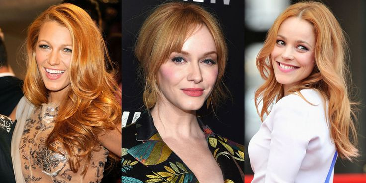 Here's what happens when Hollywood's golden manes are splashed with just the right amount of red.
