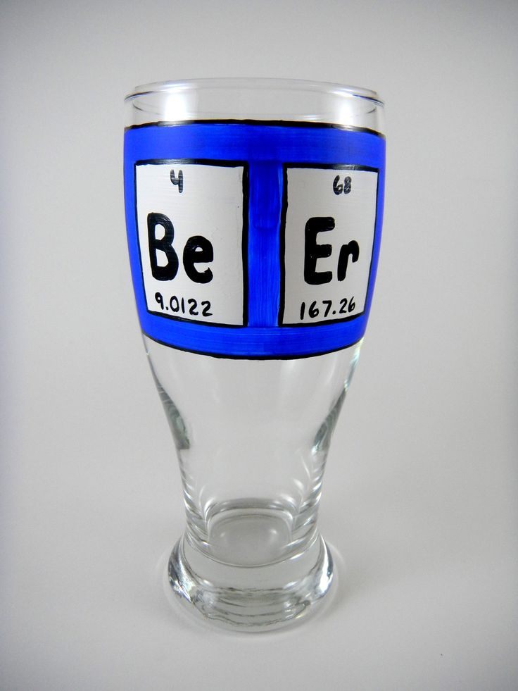 The 182 best paint on glass images on pinterest painted wine hand painted beer glass periodic table of elements urtaz Gallery
