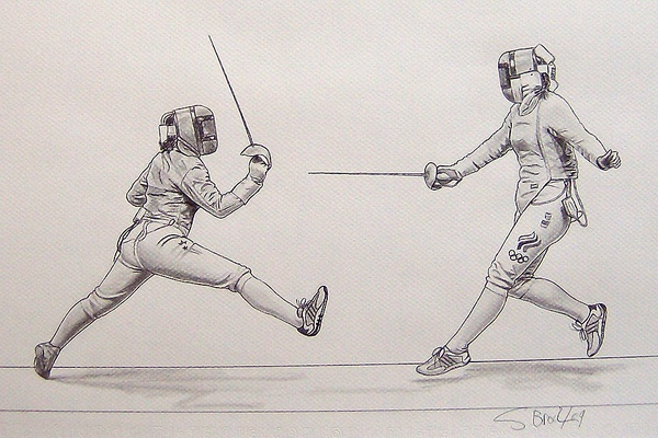 The Art of Fencing Portfolio by Sascha Brock, via Behance Repinned by Hub City Fencing Academy of Edison, NJ.