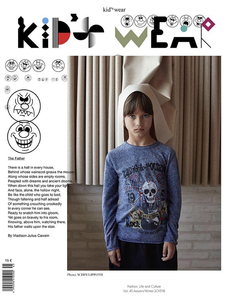 kid's wear Magazine Vol.45 - photo by Achim Lippoth #kidsfashion #magazinecover #achimLippoth #zadigandvoltaire