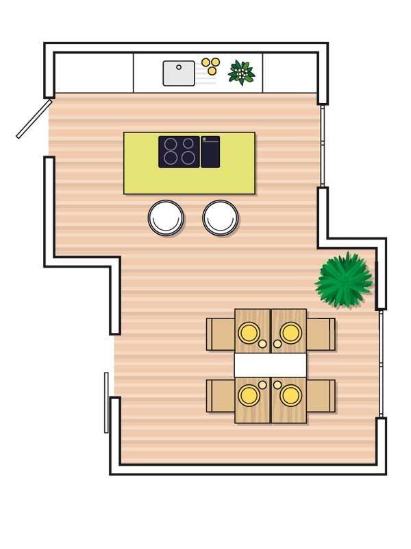 Mejores 57 im genes de casa de campo en pinterest casas for Cocina comedor 3x3
