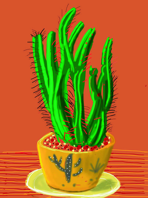 David Hockney - ( Ipad painting )