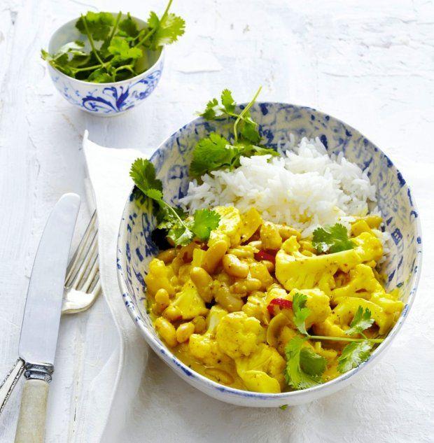 Květákovo-fazolové curry