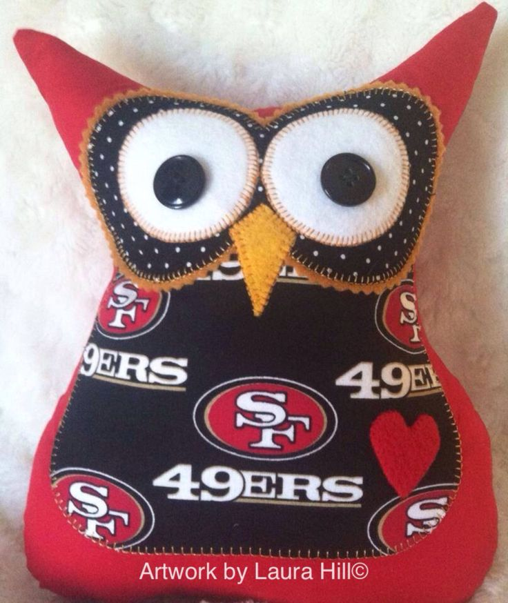 San Francisco 49ers Sports Themed Stuffed by ArtworkbyLauraHill