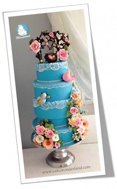 Teal Wedding Cakes Pinterest