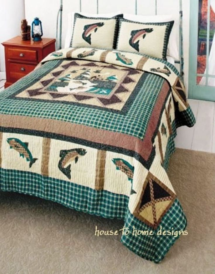 Fishing Quilt and Comforter Sets