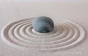 Zen - rock - sand - calm