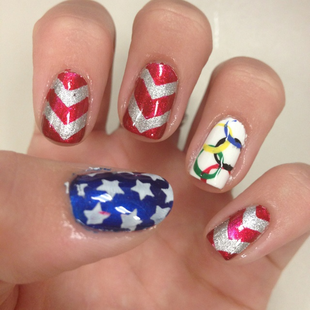 Best 25 usa nails ideas on pinterest american nails 4th of team usa nails go usa in the olympics prinsesfo Choice Image