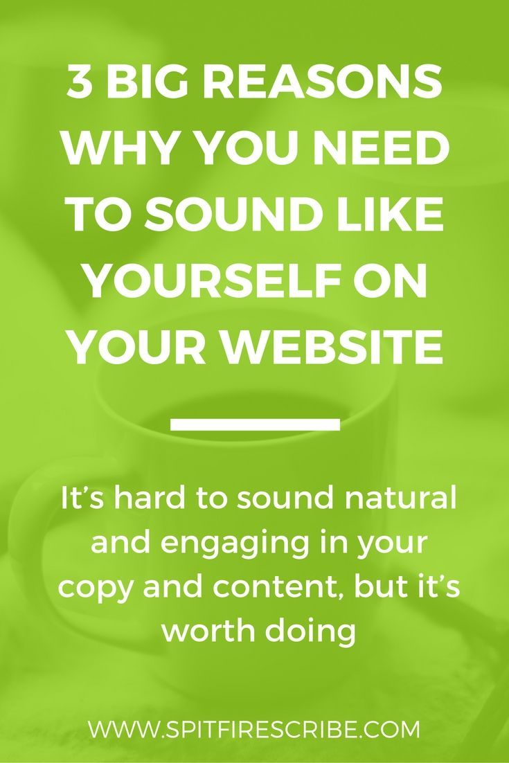 Does your copy and content sound like you? Click through to read 3 big benefits to sounding like yourself on your website! via /spitfirescribe/