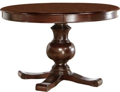 200 rooms to go emory heights dining table companion for Round table 52 nordenham