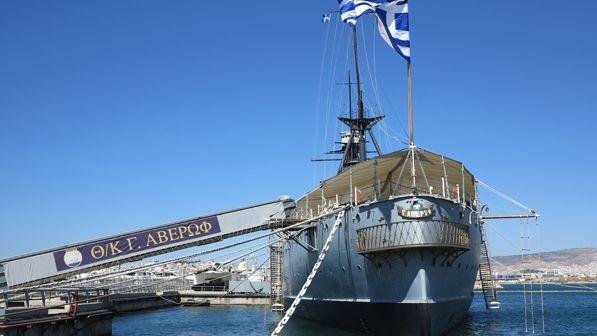 Battleship Averof, Naval Museum (Walking Athens Flisvos - r.26)