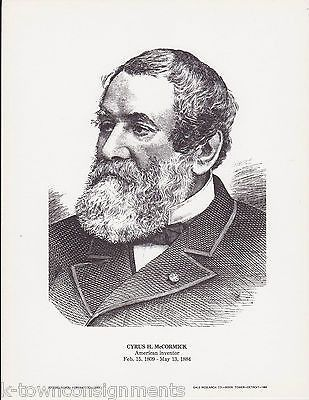 Cyrus McCormick American Inventor Vintage Portrait Gallery Artistic Poster Print