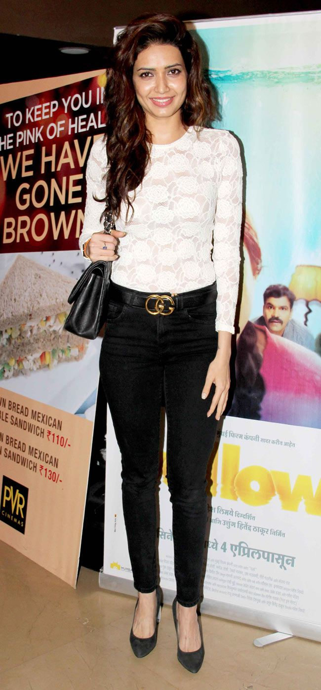 Karishma Tanna at the screening of Marathi film Yellow. #Style #Bollywood #Fashion #Beauty