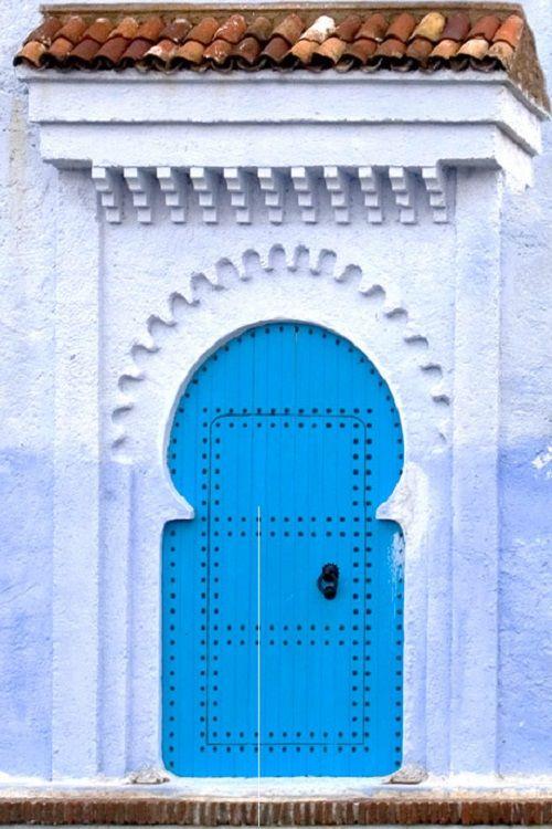 6- Puerta en Chefchaouen (Marruecos). Foto ©Daniel Nadler