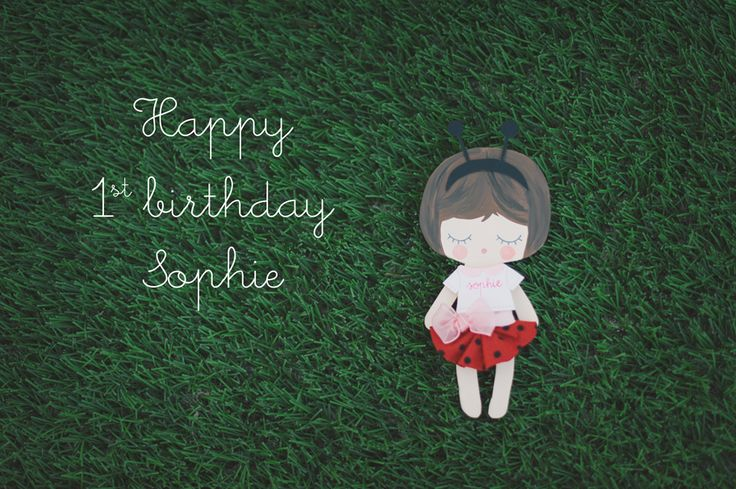 AnDphotography -  #handmade WooDoll for Sophie's 1st birthday #ladybird #firstbirthday #pois #babygirl #woodtoys