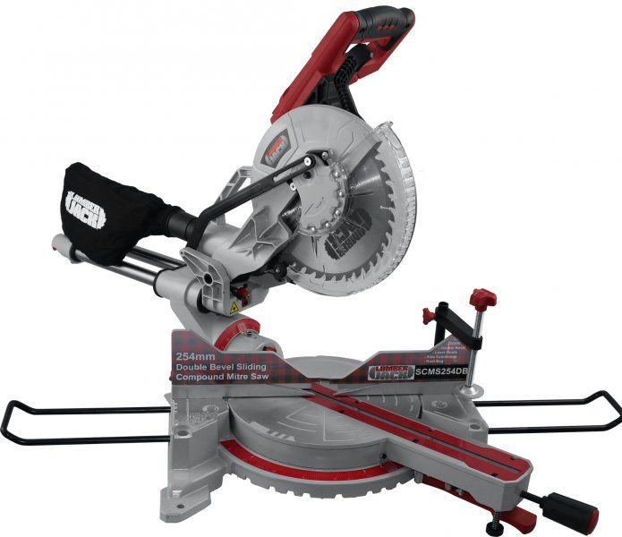 """Lumberjack Tools SCMS254DB - 10"""" Compound Sliding Double Bevel Mitre Saw 230V Woodworking - Mitre Saws -"""
