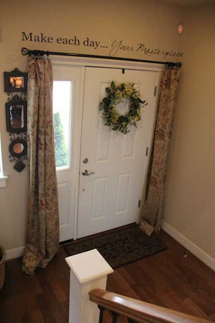 Best 20 front door curtains ideas on pinterest for Foyer curtain ideas