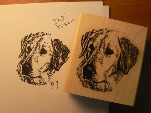 Yellow Labrador dog rubber stamp WM P7 * You can find out more details at the link of the image.