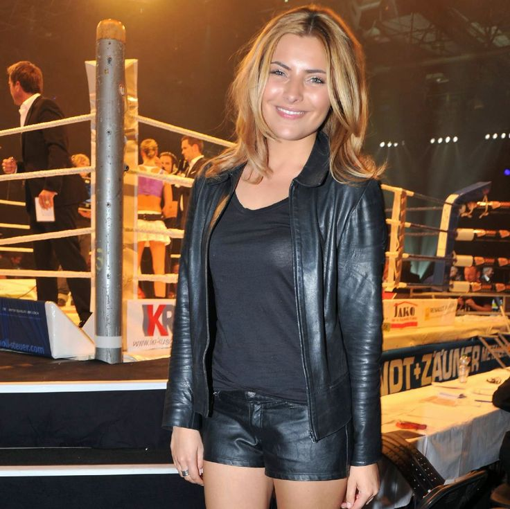 Celebrities In Leather: Sophia Thomalla in leather jacket ...