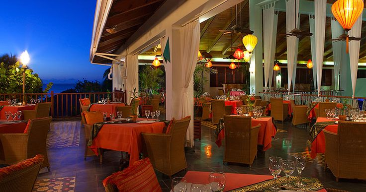 What a gorgeous place to dine! Lemongrass Restaurant at Couples Swept Away in Jamaica