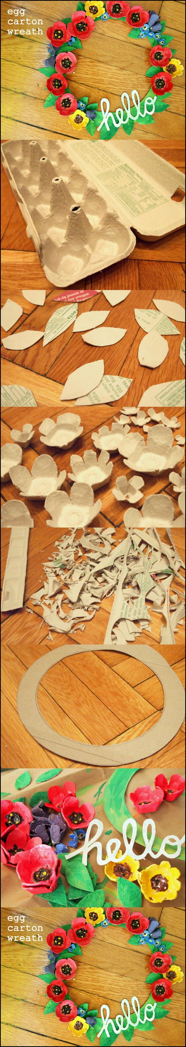 Egg carton wreath m