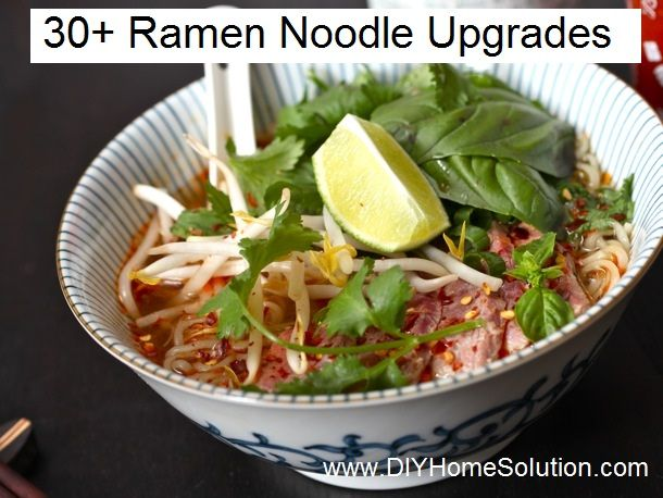 Add more interest to Ramen noodles.
