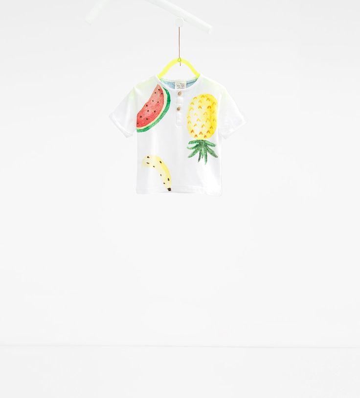 Camiseta estampado frutas