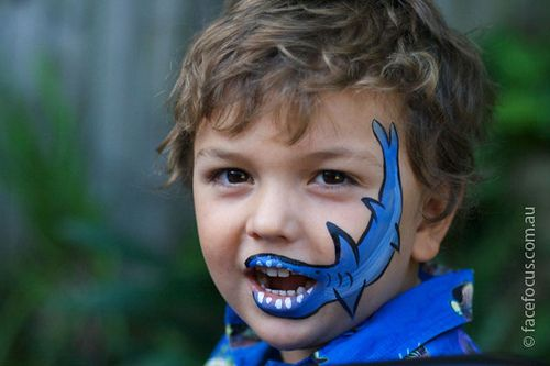 Face+Painting+For+Boys | Smiling shark face painting | Flickr - Photo Sharing!