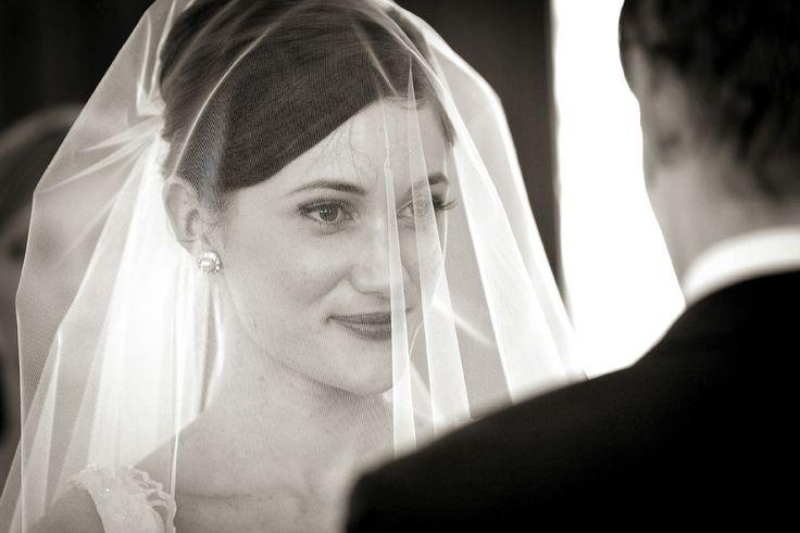 Bride + veil, vows