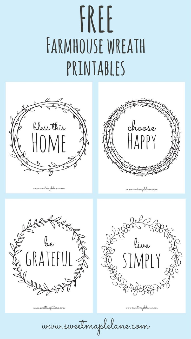 9 farmhouse printables to cozy up your home lettering printables free printables on farmhouse kitchen quotes free printable id=58416