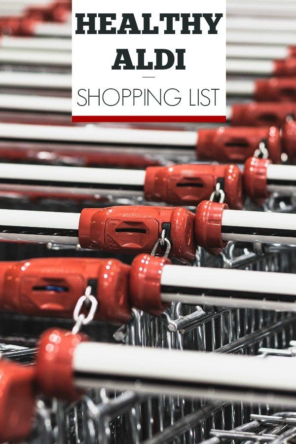 Healthy Aldi Shopping List - My favorite healthy eating essentials from Aldi! Stock your freezer, fridge, and pantry for cheap with this list of staples.
