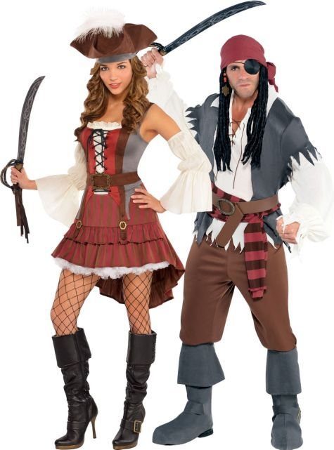 Castaway Pirate Couples Costumes - Party City