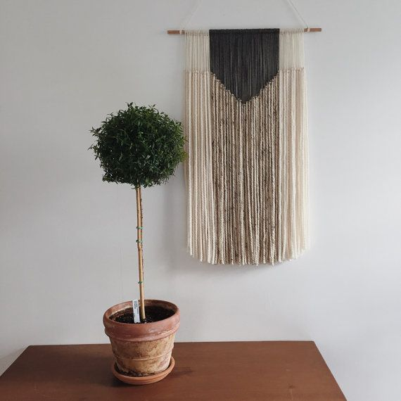 beautiful yarn hanging for any room in your home. Due to delicacy of yarn, item is rolled tightly to avoid tangling and may arrive slightly wavy on the