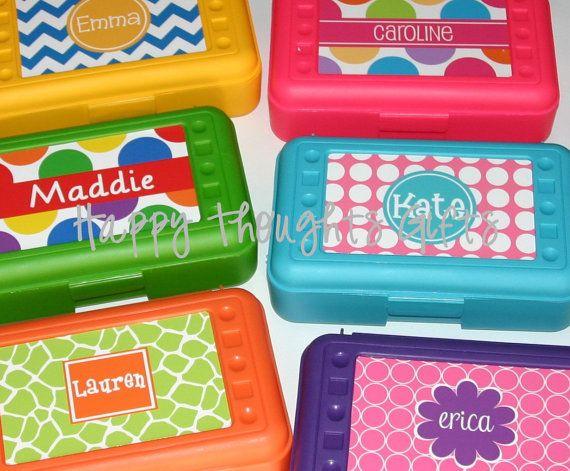 Personalized Pencil Crayon Box / Art Supply Case - Back to School on Etsy, $13.00
