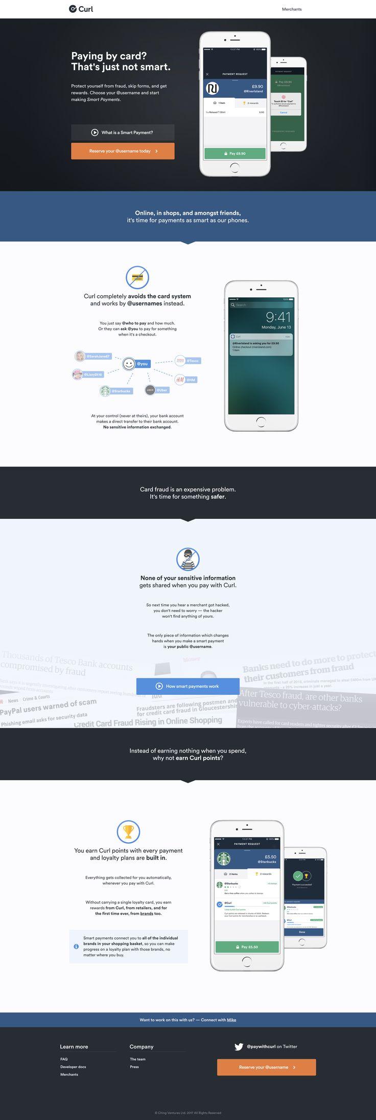 Curl. Web design