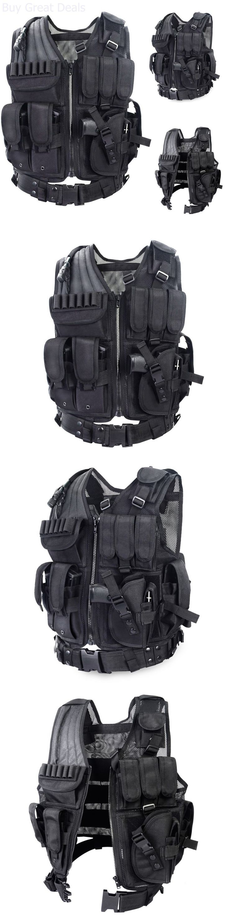 Vests 36284: Yakeda Tactical Swat Police Military Hunting Survival Scenario Vest Body Armor BUY IT NOW ONLY: $54.2