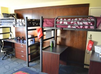 Model Residence Room In University Tower. College FoodCollege LifeDorm ...