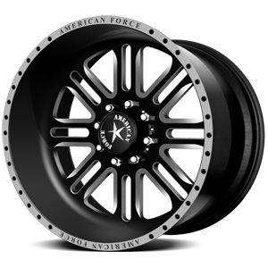 American Force Alpha SF8 Flat Black Custom Truck Wheels & Rims