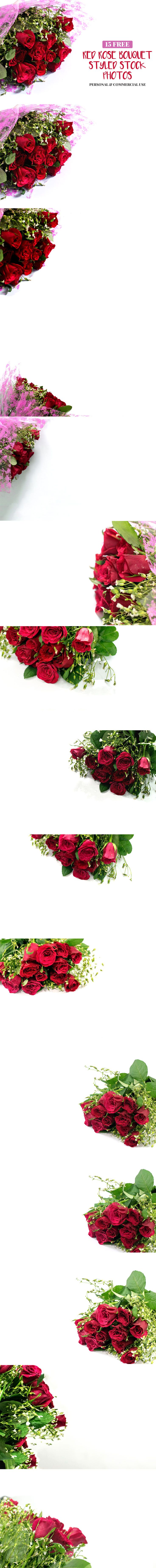 15 Free Red Roses Bouquet Styled Stock Photos can be cropped and used as a hero image for your website slider or website widgets, a featured image etc. via @creativetacos