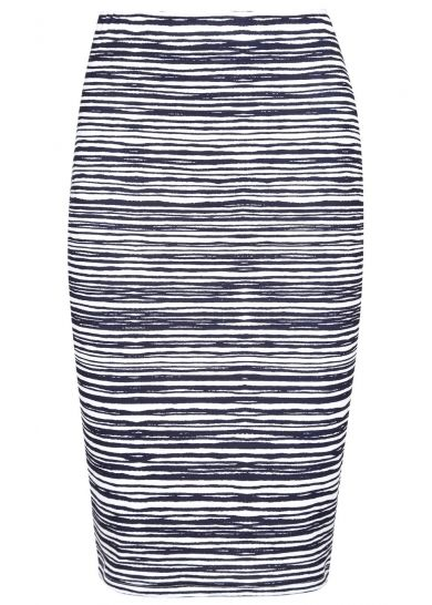 Blue and white stripes create a fresh #ss15 look with this #skirt from #lovemyapparel team with either a crisp white #shirt or a cropped #vest