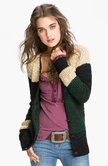 Free People 'Lake Tahoe' Colorblock Cardigan available at #Nordstrom