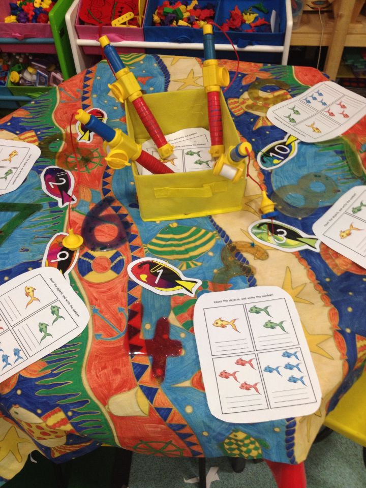 Tiddler week number fishing and writing activities.