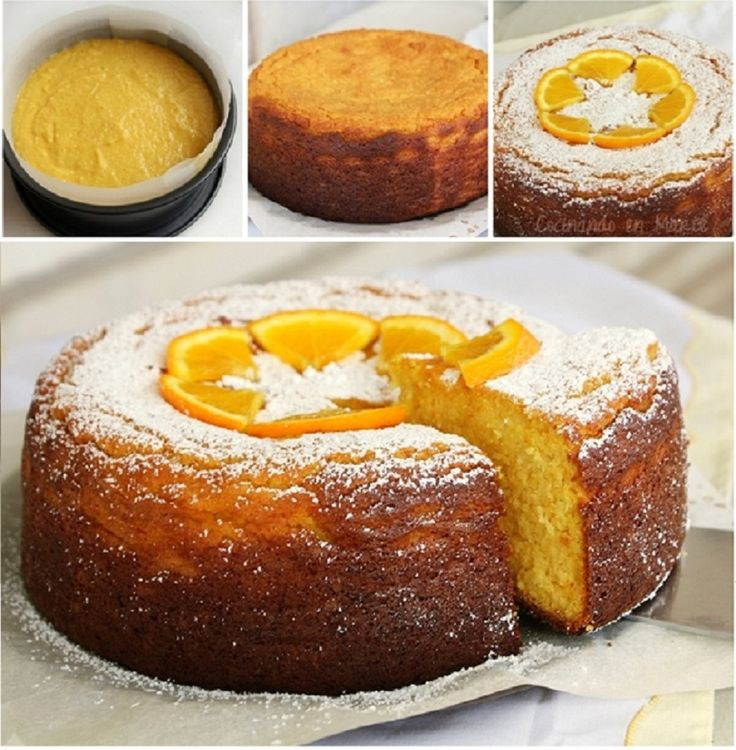 Pastel libanés de naranja. SIN HARINA NI ACEITE. 4 huevos L, 450 de ...