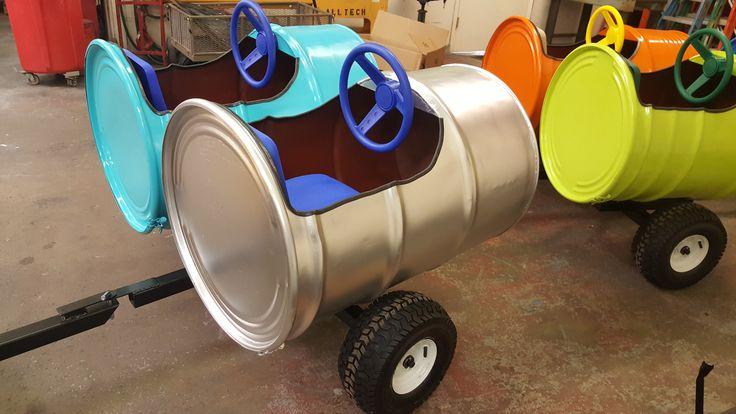 Double 55 Gallon Barrel Train Car / Wagon