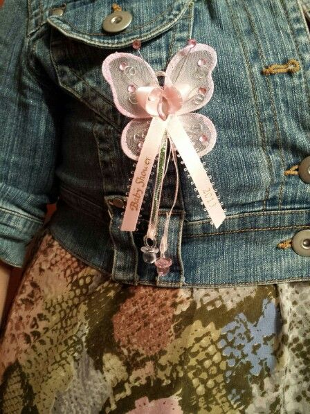 Baby shower butterfly capias for baby girl