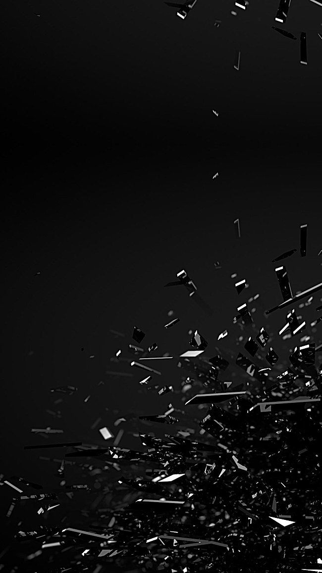 Jet Black Crystal Fragments Background Black Iphone Background Dark Black Wallpaper White Background Wallpaper